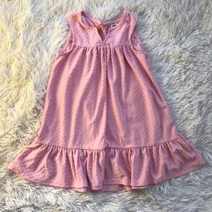 Old Navy Toddler Pink Dress Swiss Dot with Ruffle